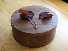 Walnut Container by Masahiro Endo at OEN Shop - http://shop.the189.com/collections/masahiro-endo/products/walnut-container