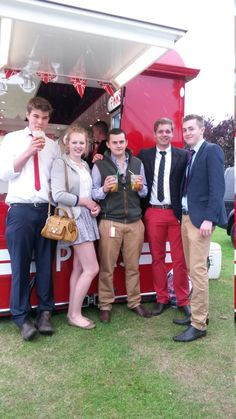 When it's pouring it down, you need shelter - and where better to find respite from the wet weather than the Pimms stand? Here's Ollie, Amy, Henry, Joe and Sam - all from the Gainsborough area and representing Corringham Young Farmers. They're a very well-turned out crowd, aren't they? Corringham YF - we love your style! Young Farmers, Wet Weather, Very Well, Barbour, Good Old, Well Dressed, Dapper, Like You, Shelter