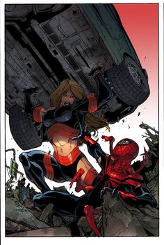 Superior Spider-Man vs Ms Marvel by Giuseppe Camuncoli