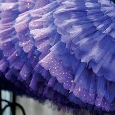 Lavender layered tulle skirt
