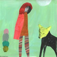 VENUS AND FURS: Red Riding Hood- work in Cutters Exhibit/Ireland | art by Katherine Streeter