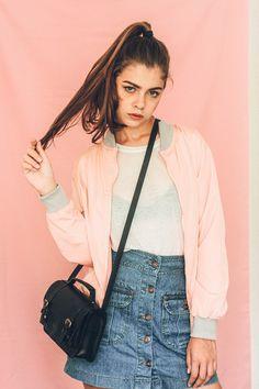 Jaqueta Bomber Rosa Obviously - Pink Vanilla Vaporwave, Your Style, Pink, Clothes, Vanilla, Baby, Fashion, Pink Bomber, Pink Jacket
