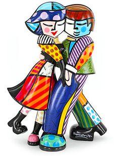 Romero Britto  Sculptures in Porcelain....Fabulous!  Let's dance!!