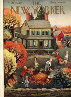 The New Yorker - October 12, 1946 issue.  Cover art by Edna Eicke.