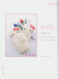 FREE Hello Kitty Mittens Crochet Pattern / Tutorial