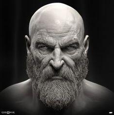 Character Design x God of war art dump Zbrush Character, Character Portraits, Character Art, Sculpture Art, Sculptures, Kratos God Of War, New Gods, Braut Make-up, Male Face