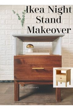 An Ikea makeover using theTarva nightstand. Learn how to paint Ikea furniture in this Ikea Tarva Hack. A plain piece of ikea furniture is made custom using mustard chalk paint. This Furniture Makeover is easy to recreate for your own custom furniture! Painting Ikea Furniture, Ikea Furniture Hacks, Furniture Projects, Home Furniture, Custom Furniture, Bedroom Furniture, Furniture Design, Dresser Furniture, Ikea Hacks