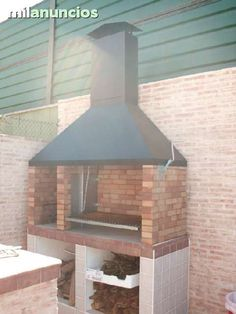 Grill Design, Patio Design, Garden Bbq Ideas, Parrilla Exterior, Brick Oven Outdoor, Diy Grill, Kitchen Grill, Backyard Fireplace, Outdoor Kitchen Design