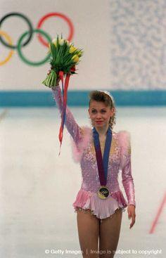 Oksana Baiul (Ukraine) - She is the 1994 Olympic champion in ladies' singles and the 1993 world champion.