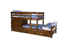 The Lo-line Longwall Bunk Bed is great for sleeping two people at a low height. Also it's a great option if you're after a bunk bed with storage