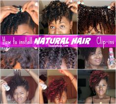 A detailed instructive post showcasing how to install natural hair clip ins using Big Chop Hair exensions on short natural hair Natural Tapered Cut, Tapered Twa, Natural Hair Journey, Natural Hair Care, Natural Hair Styles, Hair Extensions For Short Hair, Curly Clip Ins, Kinky Hair, Hair Hacks