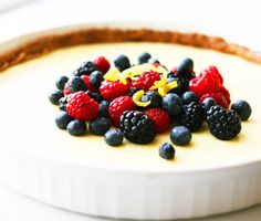 A delicious diabetic recipe for a berry cream cheese tart