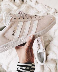 Blush sneakers.