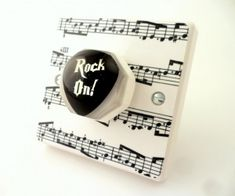 Guitar Plectrum Light Switch by Candy Queen Designs, the perfect gift for Explore more unique gifts in our curated marketplace. Guitar Gifts, Music Gifts, Designer Light Switches, Skateboard Furniture, Decorative Light Switch Covers, Lounge Lighting, Cupboard Knobs, Clear Resin, Room Lights