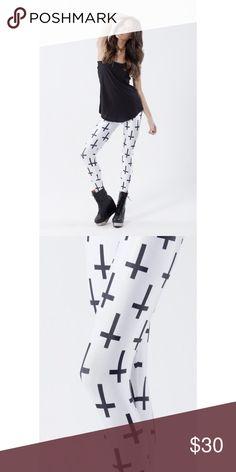 NEW BLACK MILK CROSS OF ST. PETER LEGGINGS NEW BLACK MILK CROSS OF ST. PETER LEGGINGS Blackmilk Pants Leggings