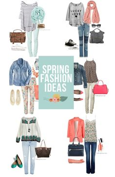 Spring is right around the corner!  Here are 7+ Spring Fashion Ideas to keep in mind.  #fashion