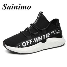 c002b97a2cfa 2018 Men Sports Outdoor Shoes Breathable Mesh Off White Running Shoes Men  Sports Summer Sneakers chaussures