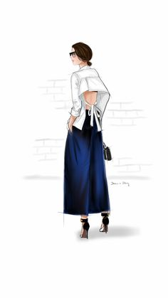 Lindy Klim in a white shirt. Drawn on my Samsung Note I Love Fashion, Fashion Art, Fashion Models, Ballet Fashion, Fashion Design, Style Fashion, Clothing Sketches, Dress Sketches, Fashion Model Sketch