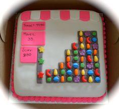 - Candy Crush Cake! Candy Crush Cakes, Cakes For Men, Cake Ideas, Wedding Cakes, Crushes, Pasta, Cake Birthday, Lace Wedding, How To Make