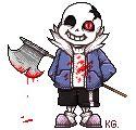 Horrortale Sans| C'mon I'm not gonna kill you, Kid by KyubeyGirl on @DeviantArt