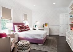 Textured Peaks Rug from west elm — A Sophisticated Girl's Room in Scarsdale   Apartment Therapy