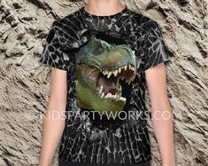 Dinosaur T-Shirt for Boys by Kids Party Works Kids Birthday Gifts, Dinosaur Birthday Party, Party Printables, Cool Kids, Etsy Seller, Parties, Gift Ideas, Trending Outfits, Boys
