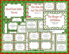 Christmas Bible trivia - free printable question cards with answers