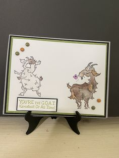 Friendship Cards, Stamping Up Cards, Animal Cards, Giraffes, I Card, Goats, Stampin Up, Card Ideas, Birthday Cards