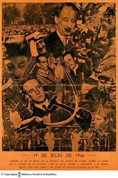 19 de julio de 1936 : Cataluña, en pie de guerra por la libertad y los derechos del hombre ... :: Cartells del Pavelló de la República (Universitat de Barcelona)