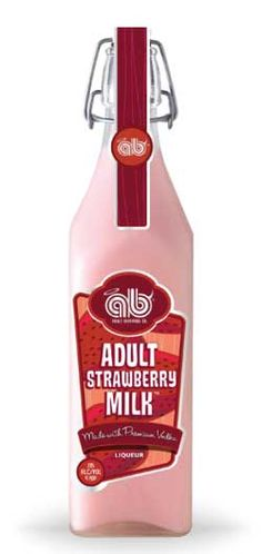"Adult Strawberry Milk: ""Fruity and sweet with subtle notes of sass,"" is what Adult Beverage Company is saying about this exciting new product. This tasty twist on an old classic will liven up any occasion."