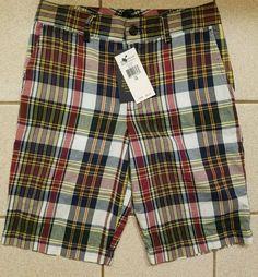 f614a4be74d4 NWT Ralph Lauren Polo Boys Blue Plaid Checker w Blue Pony Chino Shorts Sz  10  55