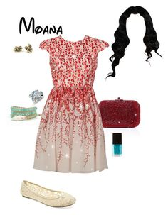 """""""Disney - Moana"""" by briony-jae ❤ liked on Polyvore featuring Judith Leiber, Giambattista Valli, UNIONBAY, Avon and Forever 21"""