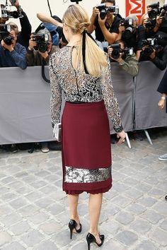 Olivia Palermo at Christian Dior show Paris fashion week 10-2-2016