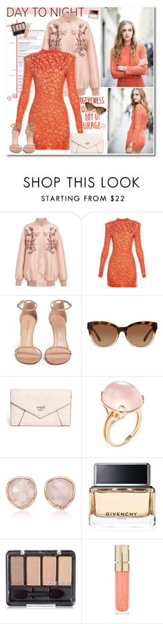 """""""Coral"""" by mery90 ❤ liked on Polyvore featuring STELLA McCARTNEY, Balmain, Stuart Weitzman, Michael Kors, GUESS, Goshwara, Monica Vinader, Givenchy and Smith & Cult"""