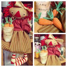 Farm fresh carrots raggedy Ann doll. Totally organic!
