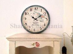 Orologio retrò dipinto a mano Clocks, Shabby Chic, Decor Ideas, Wall, House, Home Decor, Chic, Homemade Home Decor, Home