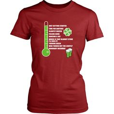 "Saint Patrick's Day - "" Irish Drinkometer "" - custom made funny t-shirts, original gifts."