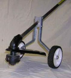 ooohhh...project for Son to make for me..wheels for the weedeater!