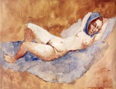 "Pablo Picasso, ""Reclining Nude"" (Fernande) 1906"
