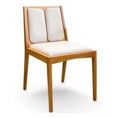 Cadeira #FIT com assento e encosto estofados e madeira maciça. E o melhor de tudo, exclusiva!  by #InoveDesign