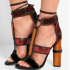 New Arrival Lace Up Gladiator Sandals 2017 Patchwork Caged Women Sandals Boots Chunky High heels Shoes Woman Celebrity Shoes 42-in Women's Sandals from Shoes on Aliexpress.com | Alibaba Group
