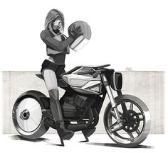 Motorcycle sketches and renders