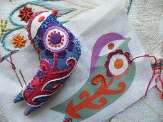 Lovebirds Embroidery Kit - Modern Design