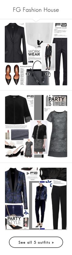 """""""FG Fashion House"""" by anyasdesigns ❤ liked on Polyvore featuring fgfashionhouse, Nine West, French Connection, Kate Spade, Miss KG, Guerlain, Ilia, NARS Cosmetics, 3.1 Phillip Lim and Madewell"""