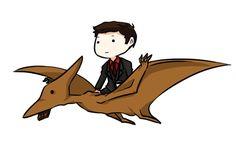 Man riding a Pterodactyl GIF. Torchwood Funny, Captain Jack Harkness, John Barrowman, Doctor Who, Twelfth Doctor, Orphan Black, Superwholock, Tardis, Cinema Camera