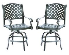 Darlee Nassau Cast Aluminum Counter Height Swivel Bar Stool with Seat Cushion Set of 2 Antique Bronze Finish >>> Want additional info? Click on the image-affiliate link. #OutdoorFurniture