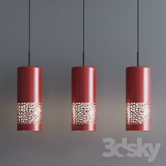 Industrial Pendant Red Set