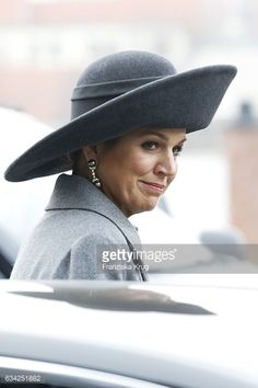 Queen Maxima of the Netherlands visit the the Goethe and Schiller Archive PetersenBibliothek on February 8 2017 in Weimar Germany The Royal couple...