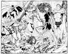 JLA & Avengers vs Dark Phoenix by John Byrne