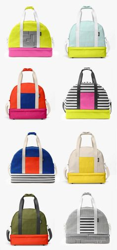 Customize your own colorful weekender bag! #saturday #katespade